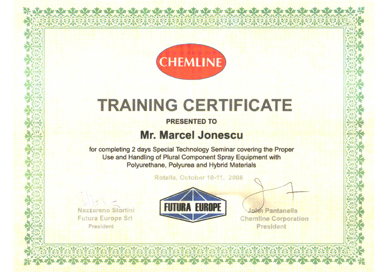 Certificat CHEMLINE